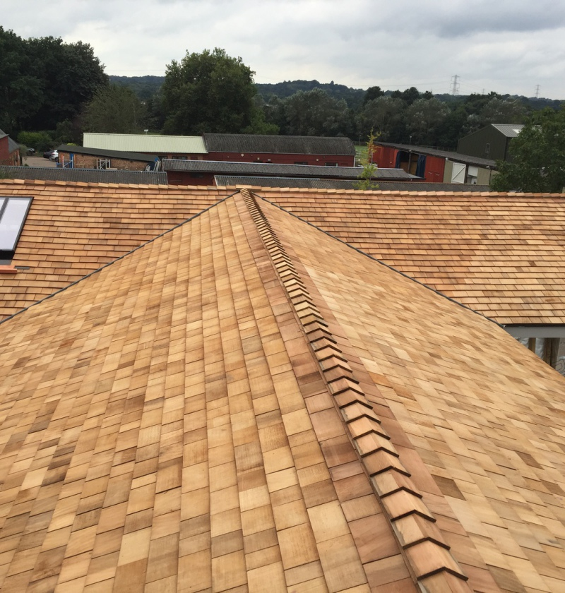 Wokingham Roofing cedar shingle roof